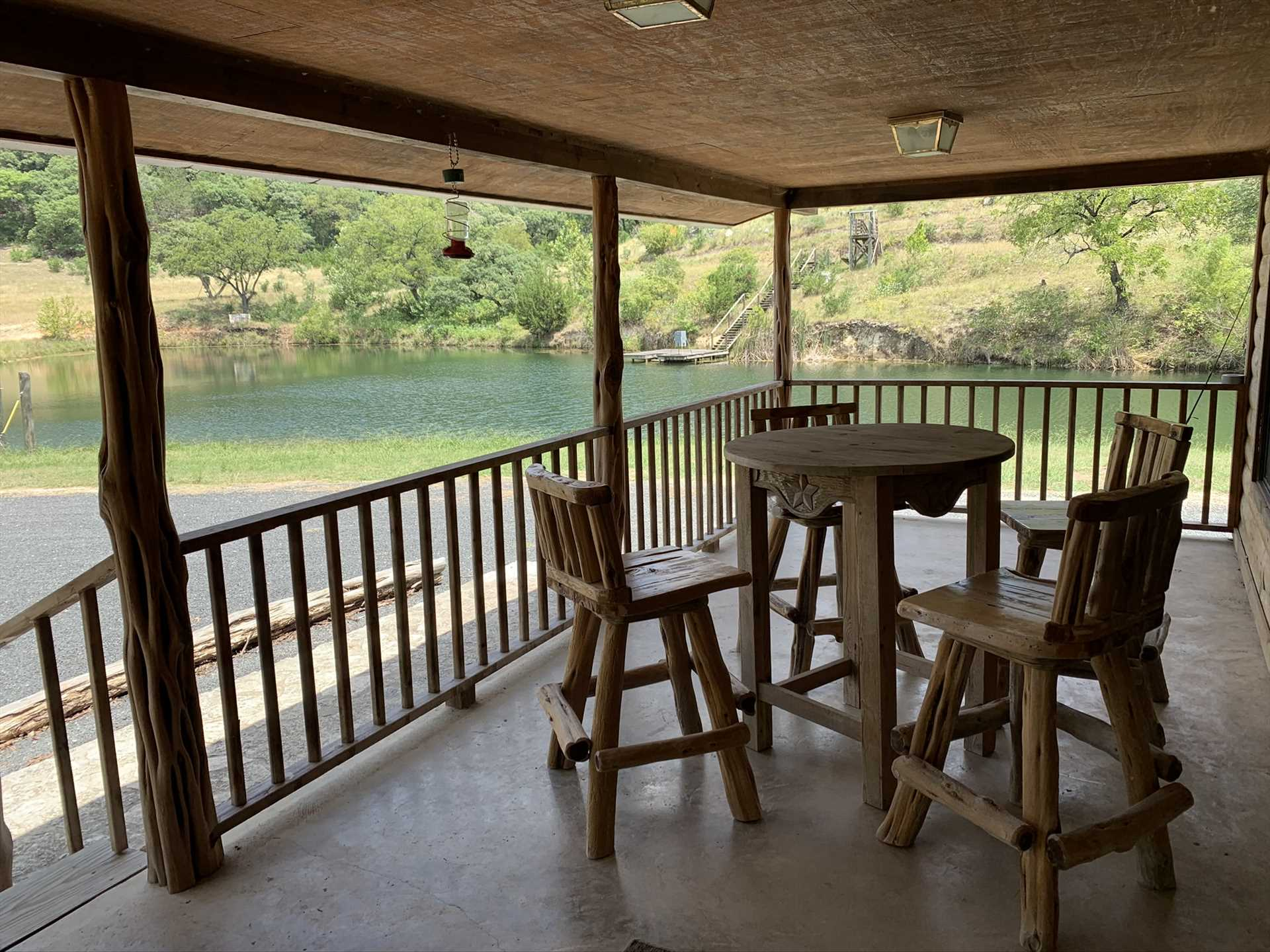 Grab a shady spot on the Lodge's front porch for pretty views of the nearby waterfront.
