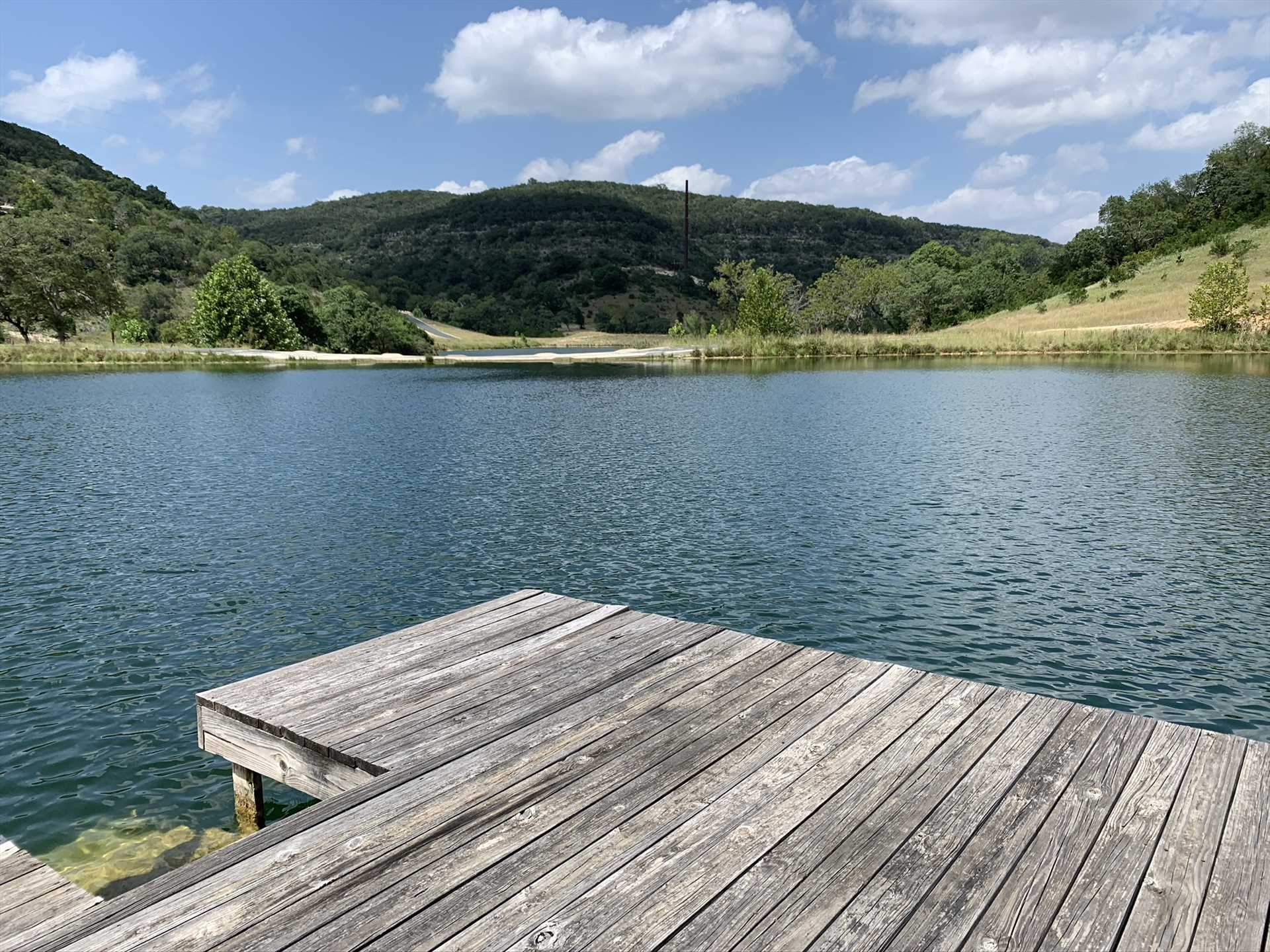 Catch-and-release fish off the pier by the lake, and take a moment to soak in those amazing mountain views!
