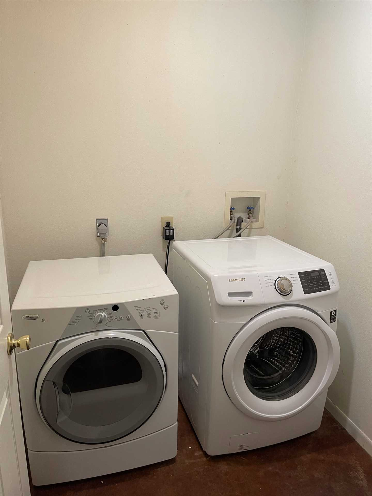 There's also a washer and dryer on-site!