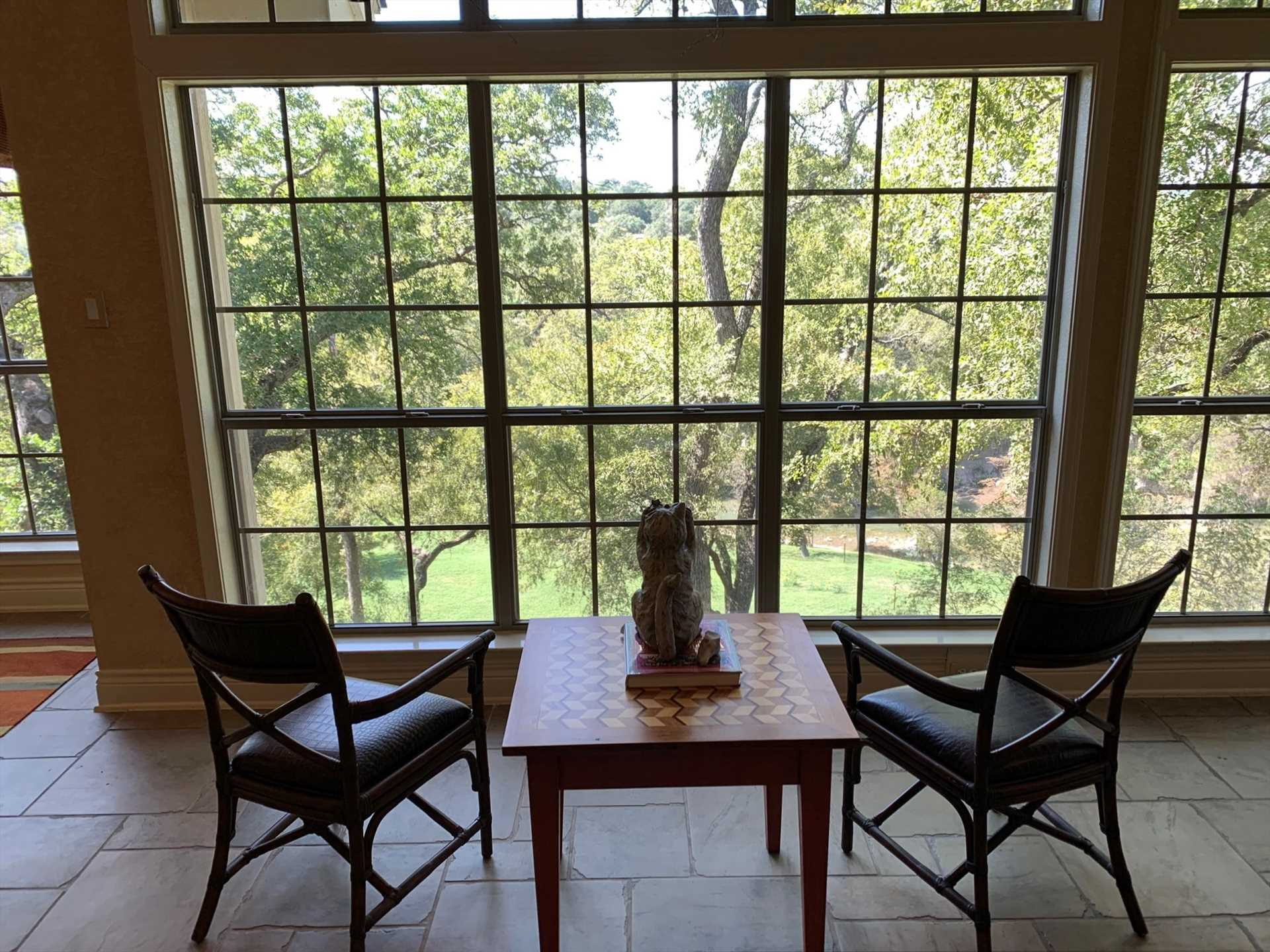 Our guest Branelle shared the view she had from the living area: