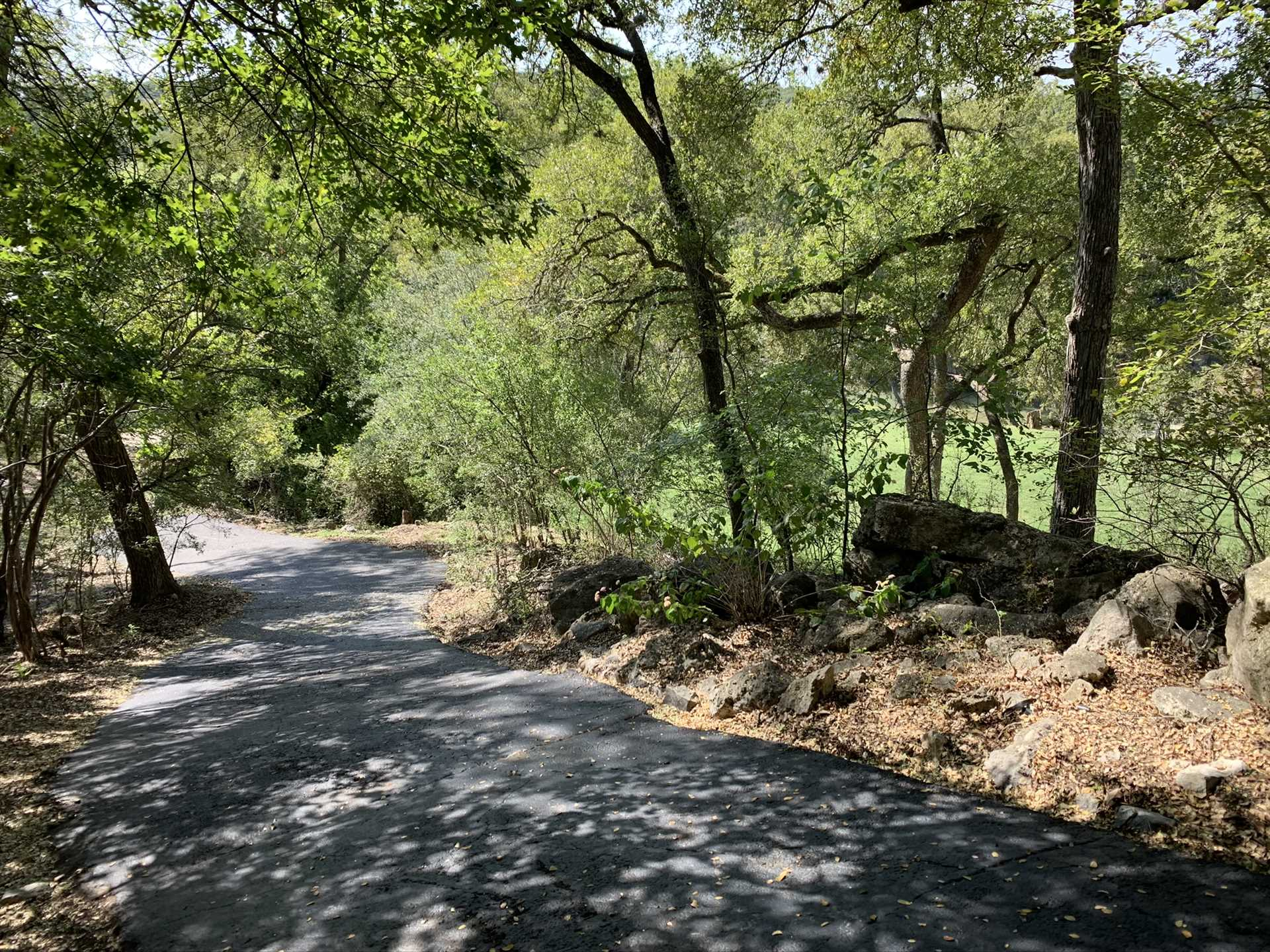 Please contact us for more information about the private access road that leads from the Retreat to the Guadalupe.