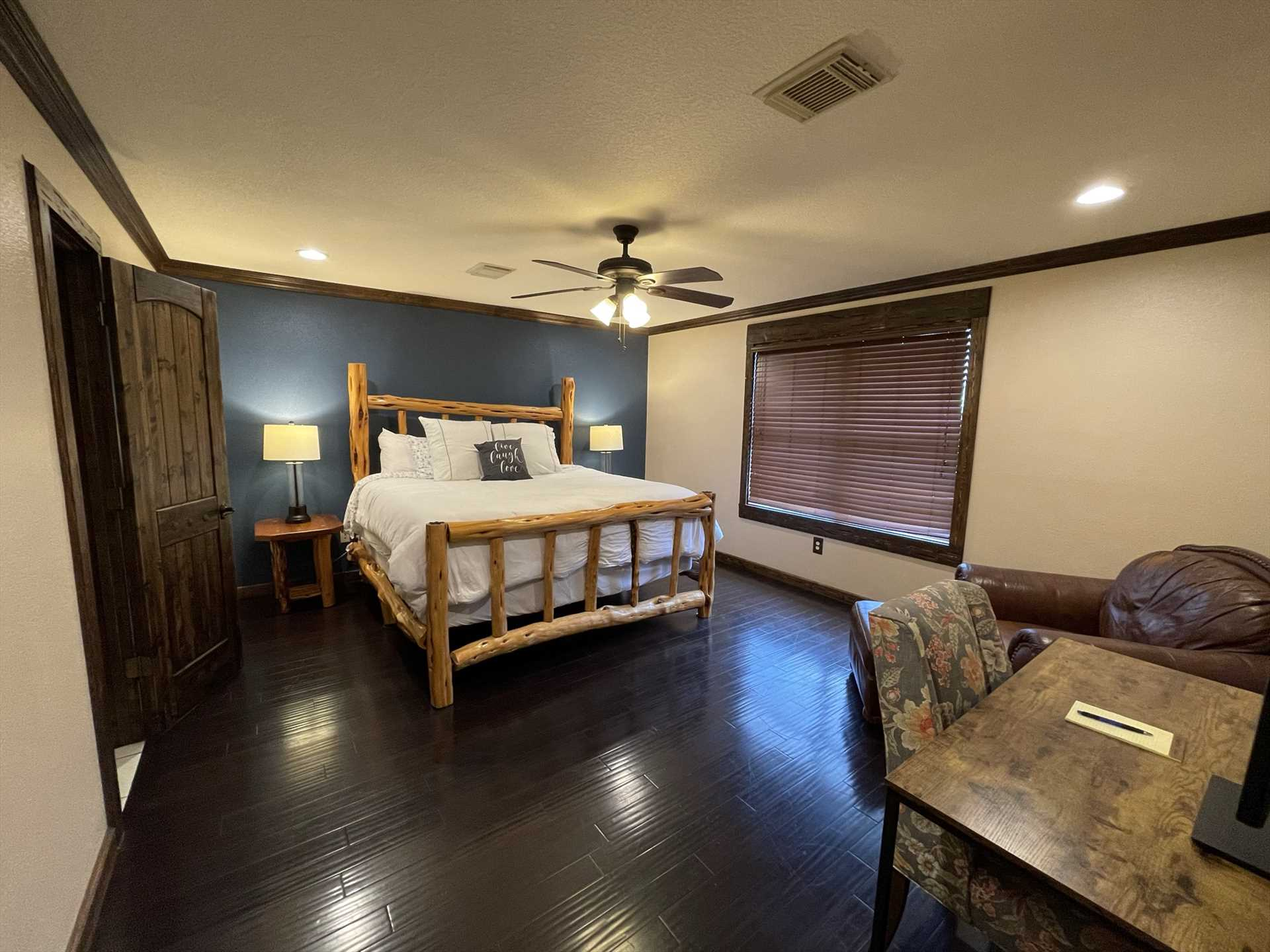 All four bedrooms at the retreat provide not only privacy and restful sleep, but plush and comfy bed linens are included, too.