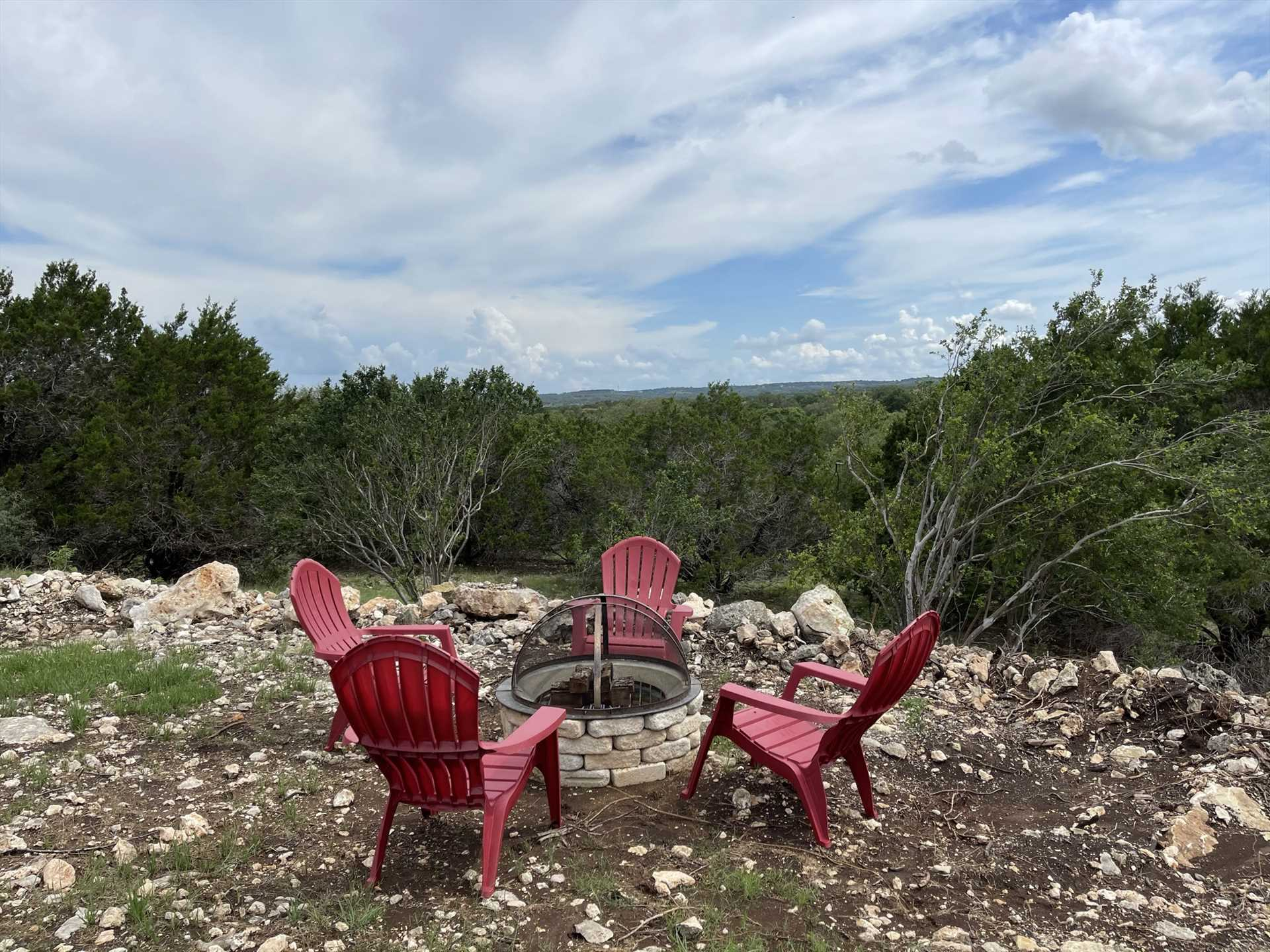 Yup, there's a fire pit, and that's awesome-but just look at the VIEW from that fire pit!