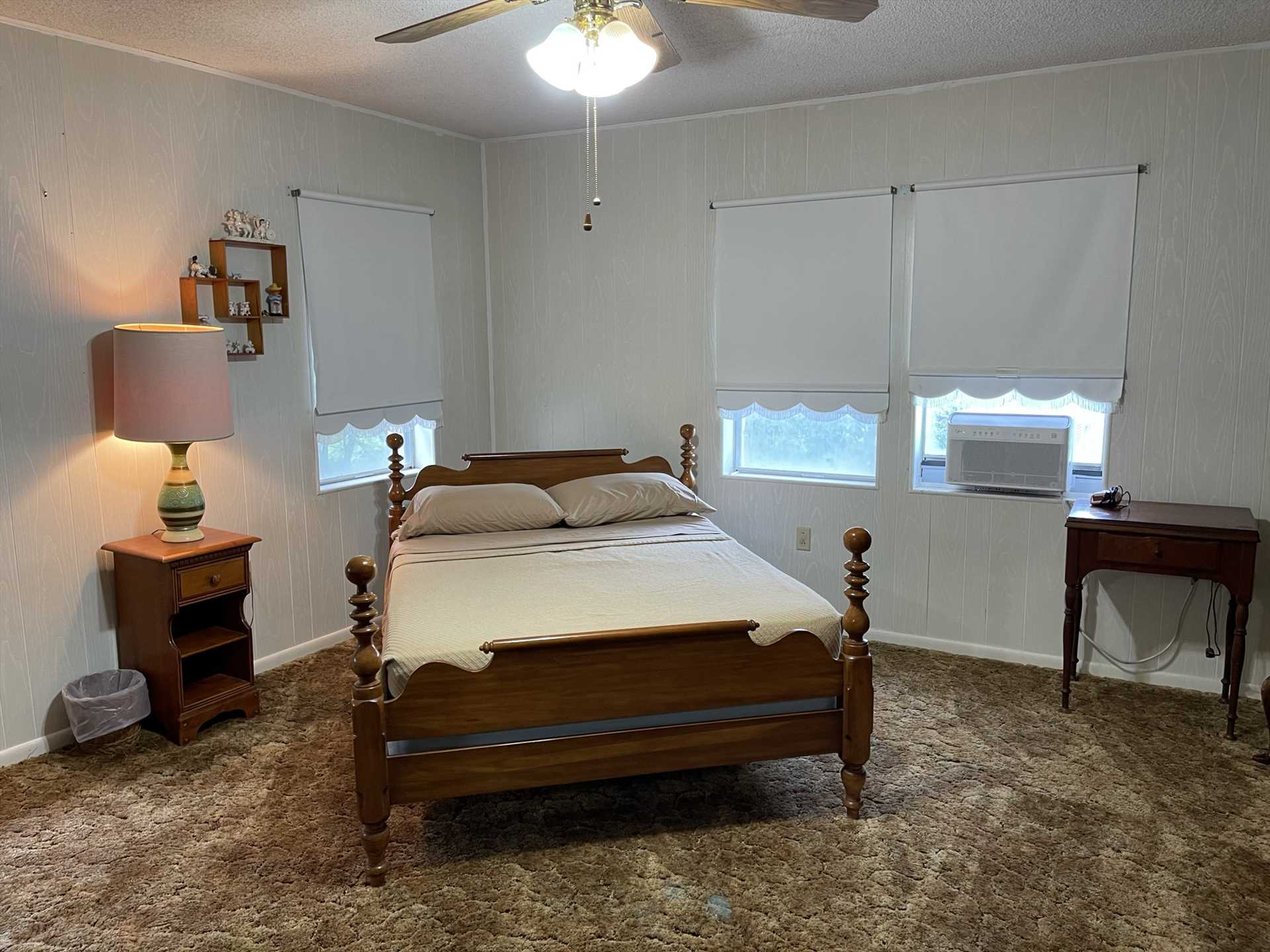 Soft and comfortable linens for all five bedrooms, and two-and-a-half baths, are complimentary.