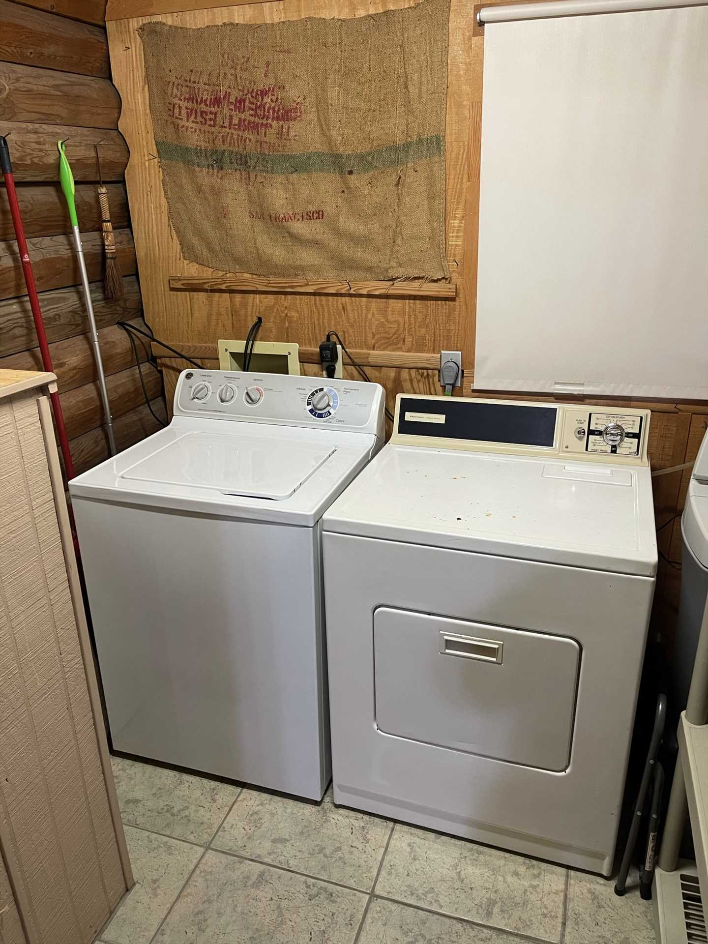 Don't fight a massive pile of laundry at the end of your holiday, keep up with it with the on-site washer and dryer.
