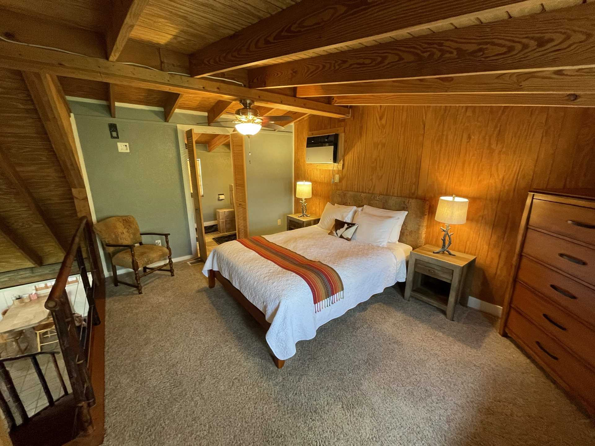 Mellow woodwork and ample storage space creates a welcoming and hassle-free environment for our valued guests.