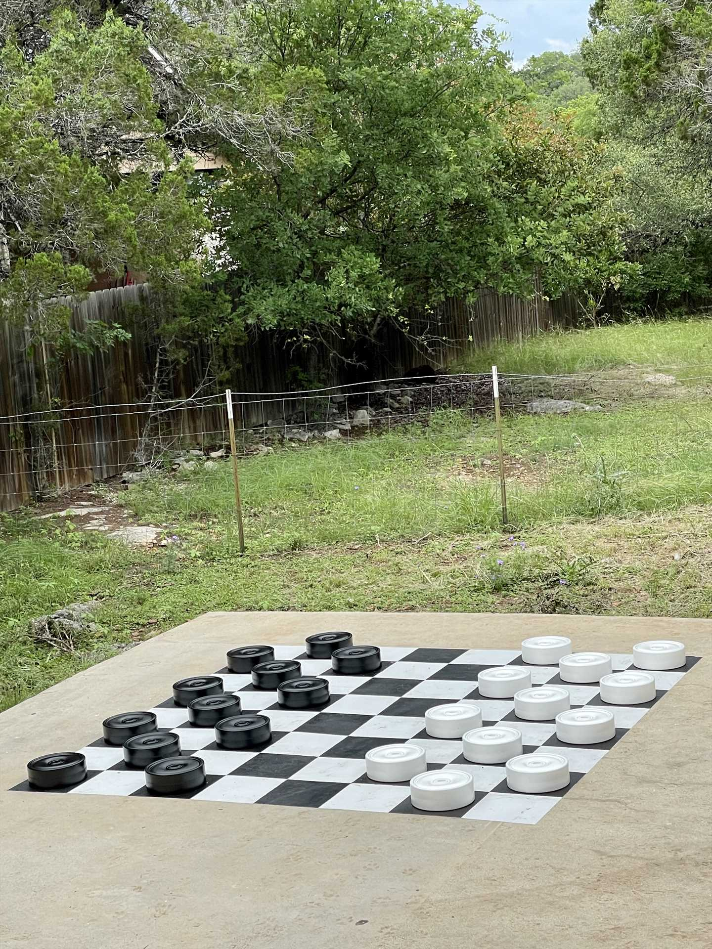 King me! OF course, we do everything big here in Texas, that includes our checkers.