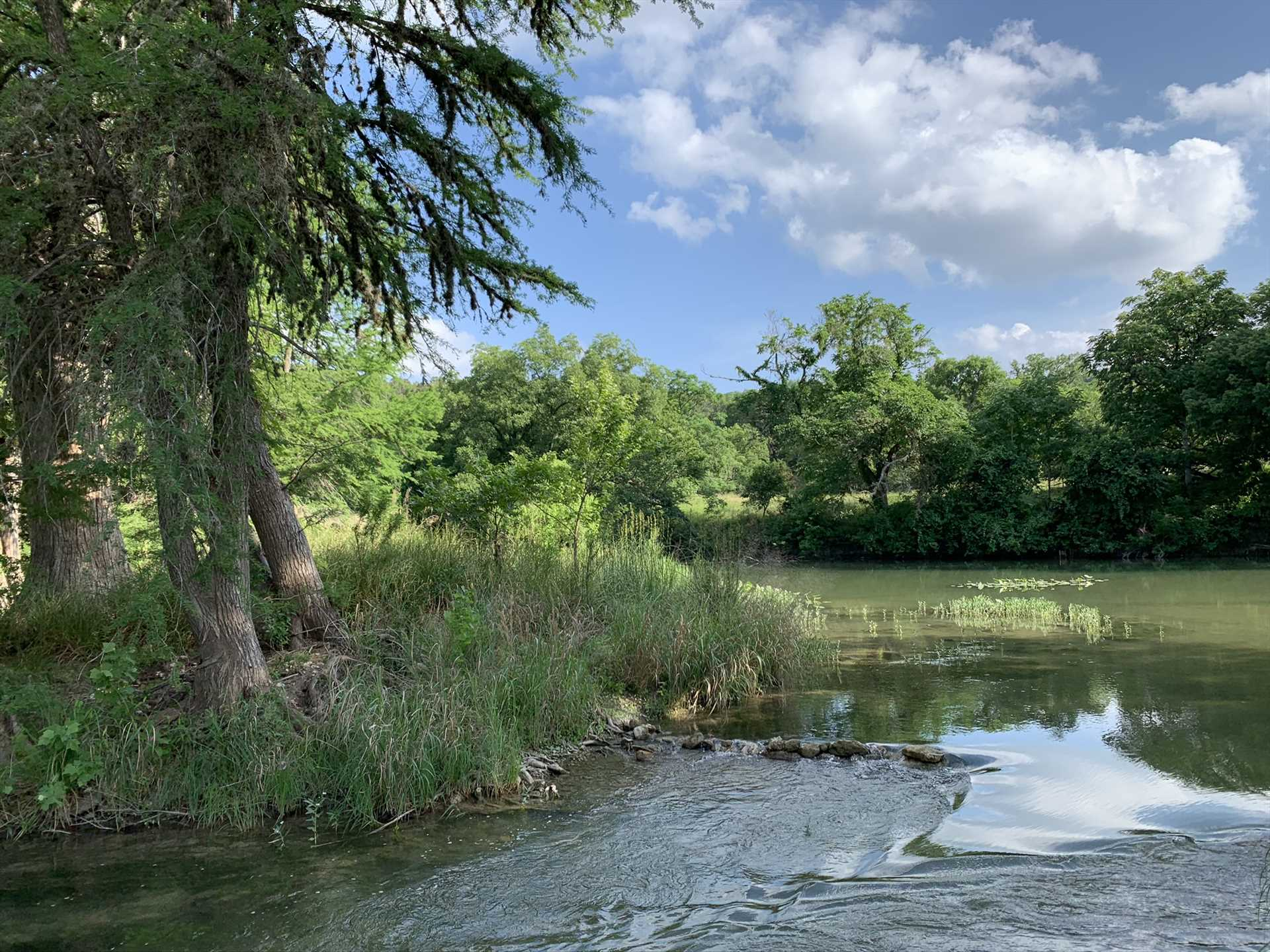 Whether you're on the river or alongside it, you'll be surrounded by Hill Country beauty.