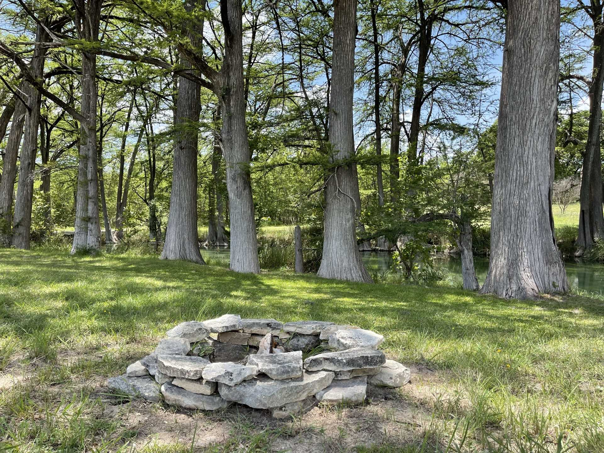 We don't do anything small in Texas! That's why you'll have TWO fire pits to gather around.