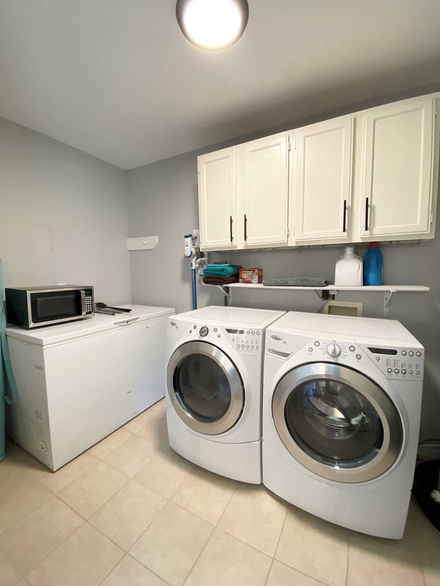 With a convenient utility room, you won't have to worry about laundry piling up!