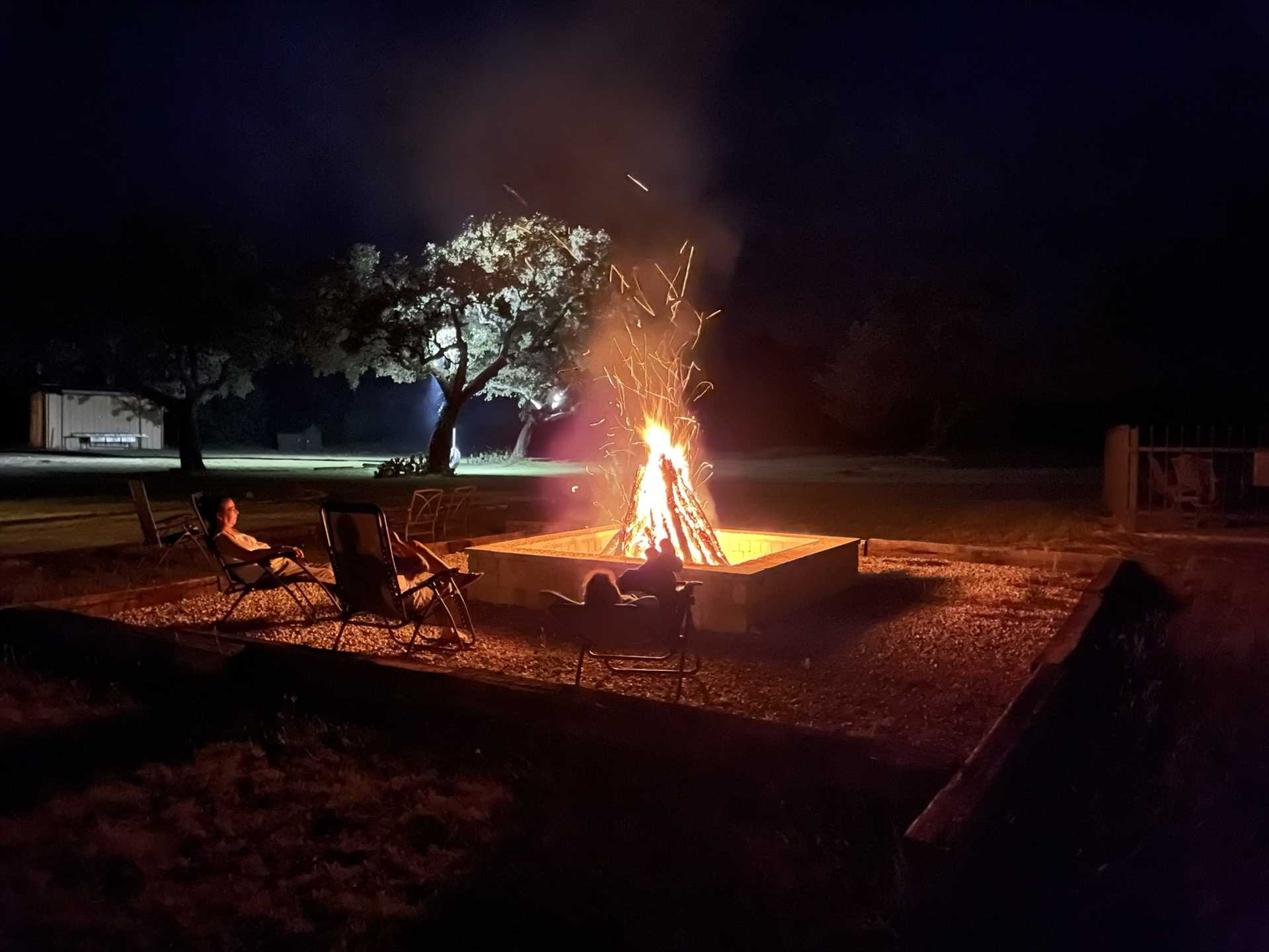 There's nothing more relaxing at the end of the day than marveling at a colorful Hill Country sunset, and then relaxing around the crackling fire pit.