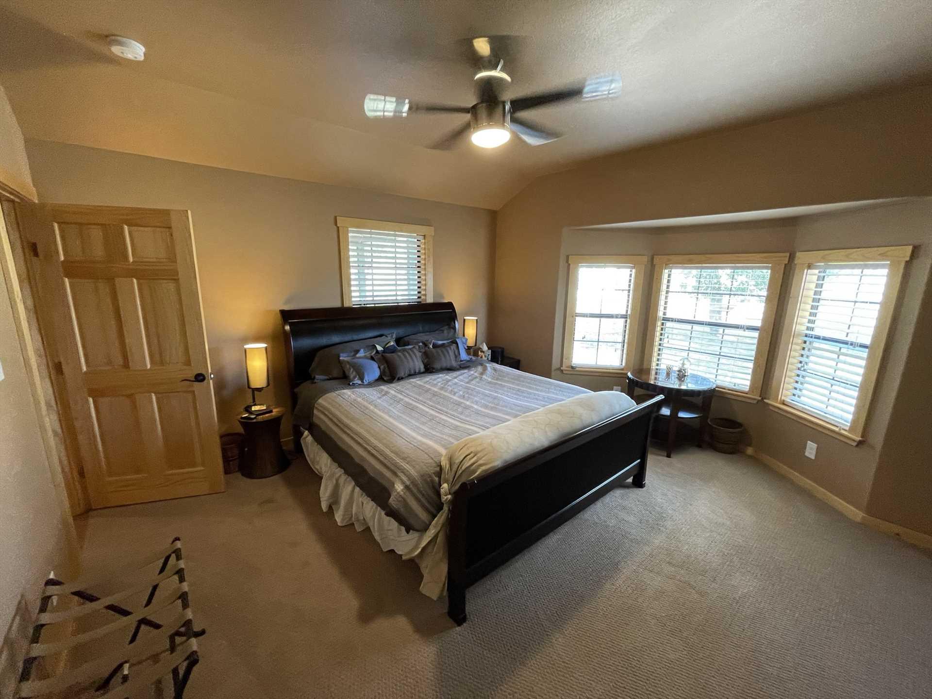 Natural light provides a relaxing and gradual way to wake up in both bedrooms at Bandera Ridge.